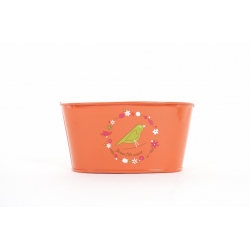 MANA - Jardinière Zinc Orange Mamie L15 x P8 x H7 cm