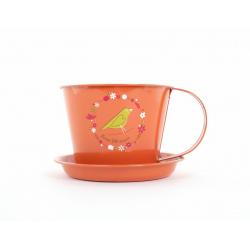 MANA - Tasse Zinc Orange Mamie D11,5 x H9 cm