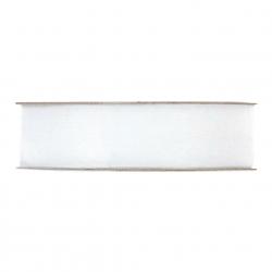 Ruban Organza 25mmx50m Blanc