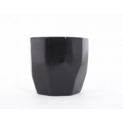 DIAMA - Cache-Pot Orchidée Noir D14 x H13 cm