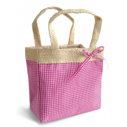 Sac Vichy Medium Fuchsia 8x13.5x11 par 10
