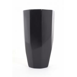 DIAMA - Vase Céramique Noir D16 x H27 cm