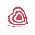 CUPIDON - Cœur Mousse et Flèches Rouge et Blanc D40 cm