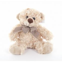 TEDDY - Ours en Peluche Beige H15 cm