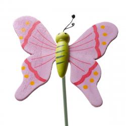 Papillon sur Pique Bois Lilas D7 x H50 cm par 10