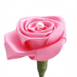 Rose Perle sur Pique Rose D7.5 x H50 cm par 10