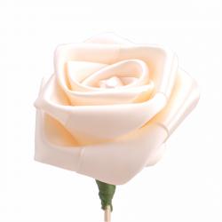 Rose Perle sur Pique Champagne D7.5 x H50 cm par 10