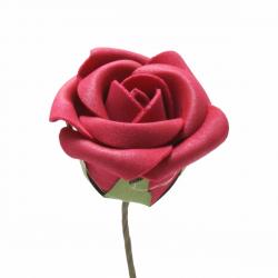 Rose sur Tige Rouge D5 x H10 cm par 25