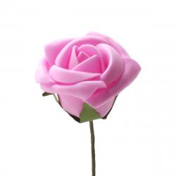Rose sur Tige Rose D5 x H10 cm par 25