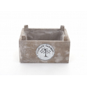 TREE - Coupe Rectangle Bois Gris Vintage L16,5 x P12,5 x H8 cm