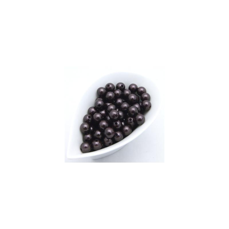 Perles 14 mm Chocolat par 72