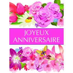 JOYEUX ANNIVERSAIRE - Etiquettes Voeux Tendresse par 500