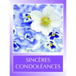 SINCERES CONDOLEANCES - Etiquettes Voeux Tendresse par 500