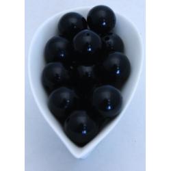 Perles 20mm Noires
