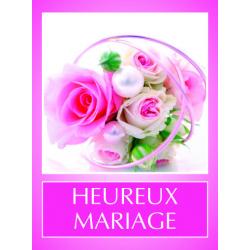 HEUREUX MARIAGE - Etiquettes Voeux Tendresse Par 500