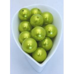 Perles 20 mm Vert Pomme