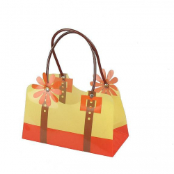 Sac Florito Orange 22x11x13 par 10