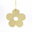 RINA - Fleur en Bois à Suspendre Assorti D10cm par 3