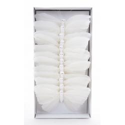 Papillons 12cm Blanc par 12