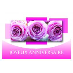 JOYEUX ANNIVERSAIRE - Carte Voeux Doubles Tendresse par 10