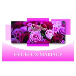 HEUREUX MARIAGE - Carte Voeux Triples Tendresse par 10