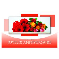 JOYEUX ANNIVERSAIRE - Carte Voeux Doubles Tendresse par 10 Joyeux Anniversaire