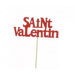 VALENTIN - Pics Saint Valentin Rouge L12 x H50 cm par 12