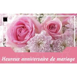 HEUREUX ANNIVERSAIRE DE MARIAGE - Carte Jeso Abandoo 2 par 10