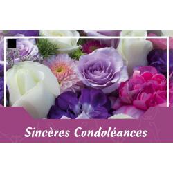 SINCERES CONDOLEANCES - Carte Jeso Abandoo 2 par 10