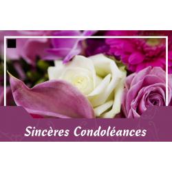Carte Jeso Abandoo 2 par 10 Sincères Condoléances
