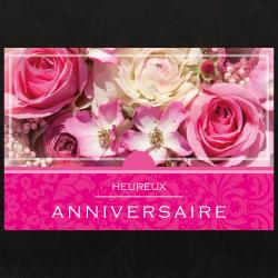 HEUREUX ANNIVERSAIRE - Carte XL Grand Format par 10