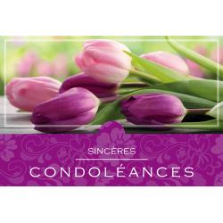 SINCERES CONDOLEANCES - Carte XL Grand Format par 10
