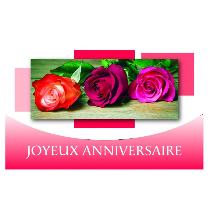 JOYEUX ANNIVERSAIRE - Carte Voeux News Tendresse par 10