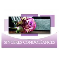 SINCERES CONDOLEANCES - Carte Voeux News Tendresse par 10