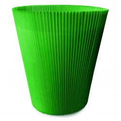 MANCHETTES 8.5 - Cache pot plissé par 100, Vert Foncé