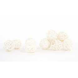 Boule Osier 5cm par 24 Blanc