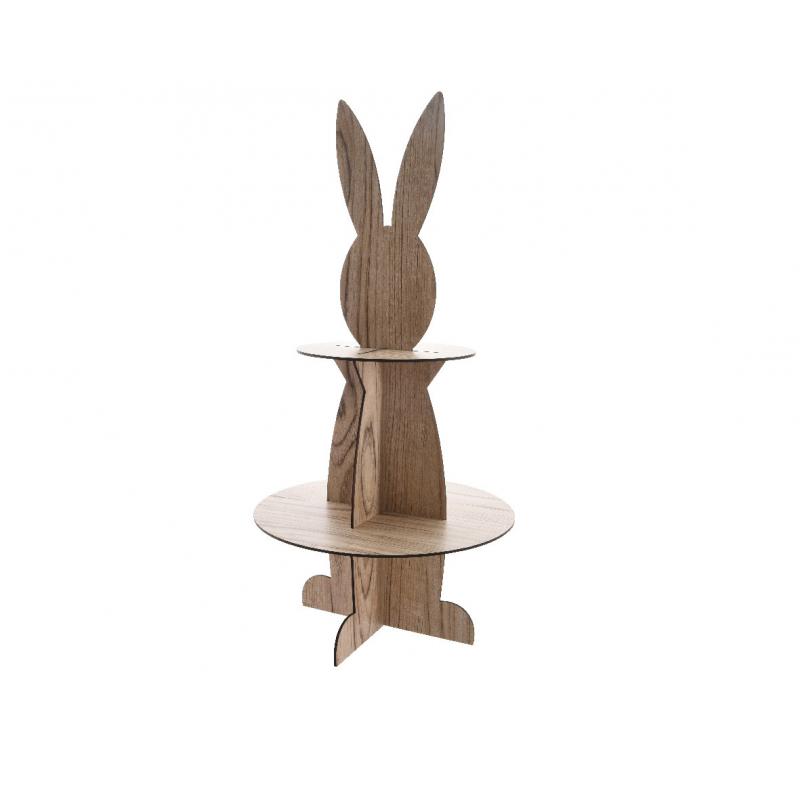 FIFI - Etagère Bois en forme de lapin D28 x H64 cm