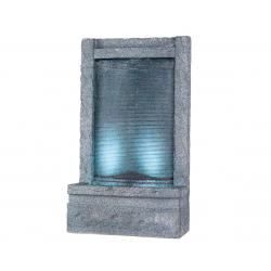 LOTUS - Fontaine Droite Grise avec Led L55 x P23 x H 95 cm