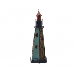 BEACON - Phare bois Bleu D20 x H60 cm