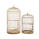 MACAO - Cage à Oiseaux en Bambou D40 x H80 cm