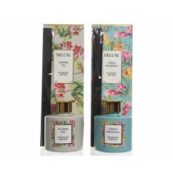 NINA - Diffuseur Parfum Verre 150 ml Fleur Thé D9 x H27 cm