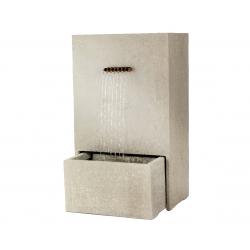 LOTUS - Fontaine Droite Grise L60 x P35 x H 100 cm