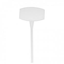 Etiquette Plastique Blanc 35cm par 10