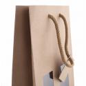 Sac Kraft + Fenêtre 2 Bouteilles 18x9x38 - 10 sacs