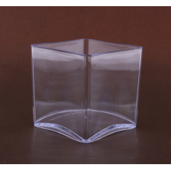 Contenant Cube PVC Transparent 100x100x100 mm