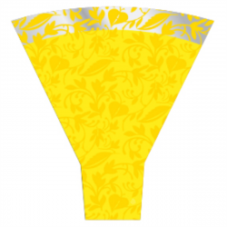 FANTASIA - Cone polypro 54 x 44 x 12 par 50 Jaune