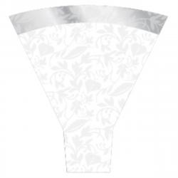 FANTASIA - Cone Polypro 54 x 44 x 12 par 50 Blanc