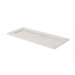 DALE - Plateau Bois Rectangle Blanc L35 x P15 x H2 cm