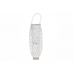 WILL - Lanterne Etroite Bois de Saule Blanc D26 x H69 cm