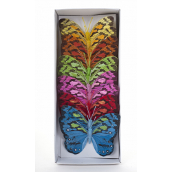 Papillon sur Tige Assortis D12 cm par 12